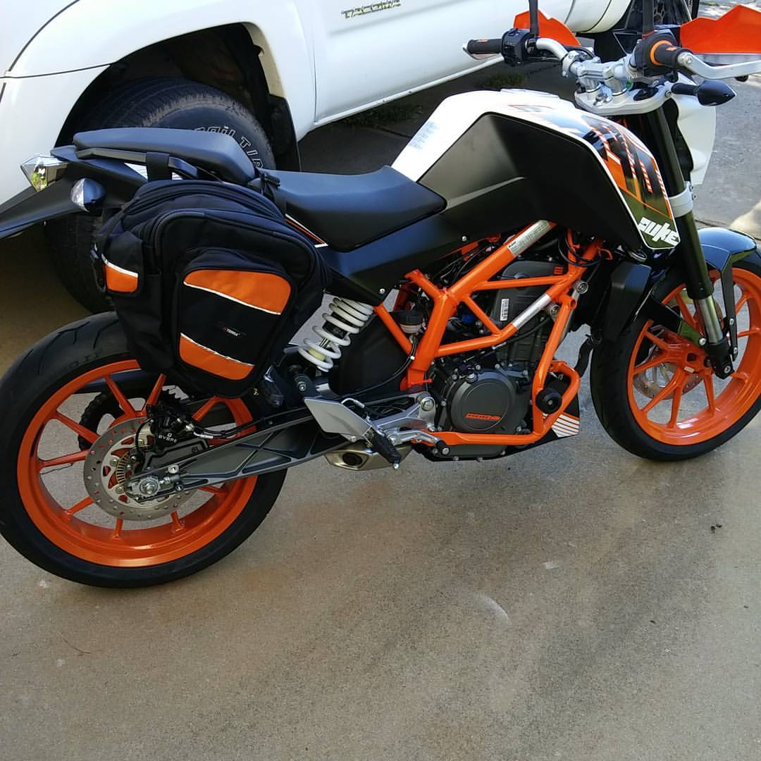back in the saddle after 15yrs from south carolina - ktm duke 390