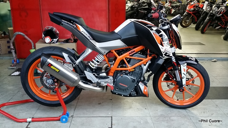 akrapovic exhaust page 12 ktm duke 390 forum. Black Bedroom Furniture Sets. Home Design Ideas